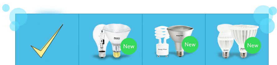 EcoHalogen, CFL, LED - New